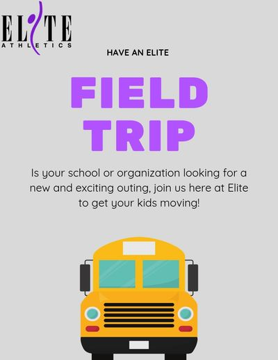 """Have an Elite field trip. If your school or organization looking for a new and exciting outing, join us here at Elite to get your kids moving!"""