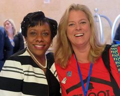 Paula (right) pictured with NEA Vice President, Becky Pringle.