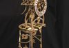 Torsion Pendulum Clock, with Brass Fretwork