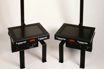 Presidential Autocue Hire Teleprompter London Rental conference obama stands automatic