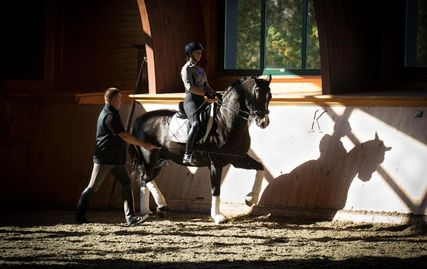 Sara Hassler, a successful competitor and trainer, is the assistant trainer for Hassler Dressage.