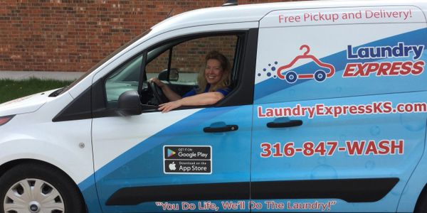 Laundry Express delivery van