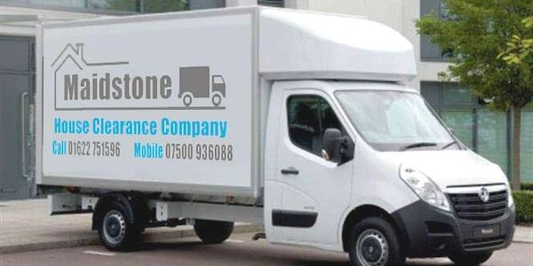 The Maidstone House Clearance Company out with the Large Luton Van for a Days Clearance