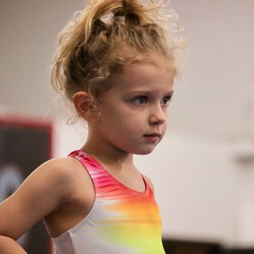 focused young gymnast