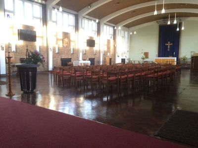 A warm welcome to our lovely worship space with a mix of tradition and modern