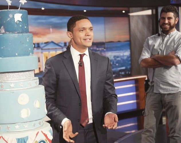 Afeef  Nessouli, Segment Producer, on The Daily Show with Trevor Noah (2018) Photo Credit: Sean Gall