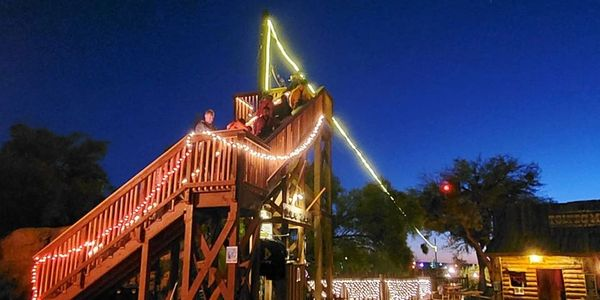 Outlaw Zip Line Provides night programs every weekend.