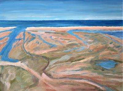 "Brewster Flats - 30 x 40"" - unframed for the moment $400"
