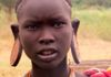 Mursi girl with ear plates