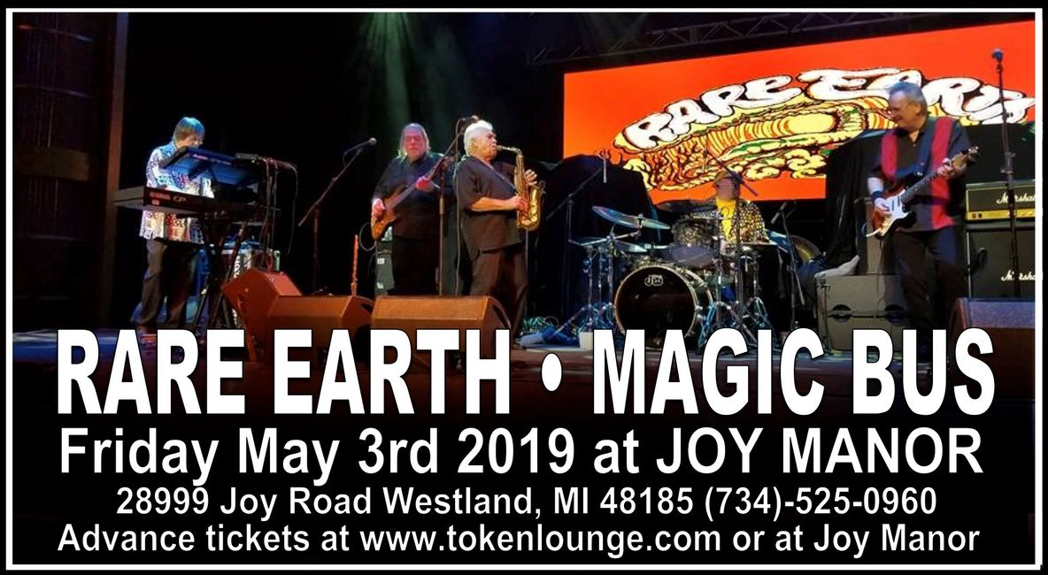 09:15pm - Rare Earth 07:45pm - Magic Bus  Doors open at 7:00pm Advance tickets $20 and $30 at the do