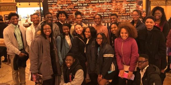 Alvin Ailey Outing with program participants, beaus and escorts.
