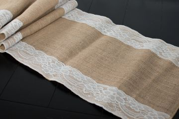 burlap runner rental