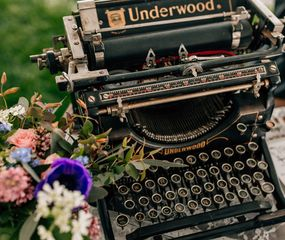 antique typewriter rental
