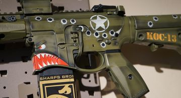 the KO CUSTOMS HUEY AR15 is a Published rifle in GUNS & AMMO RETRO
