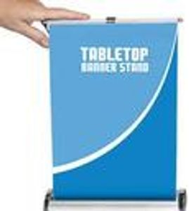 Tabletop retractable banner
