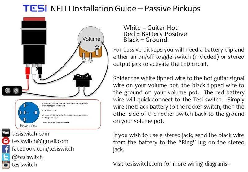 Installation | Tesi Switch | Guitar Kill Switch Wiring Diagram |  | Tesi Switch