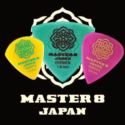 Master 8 Japan INFINIX-U Grip Guitar Triangle Pick 0.73mm Thin 6-Pack