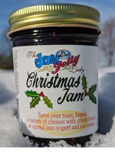 Christmas Jam. Blackberries, blueberries, strawberries, and raspberries!