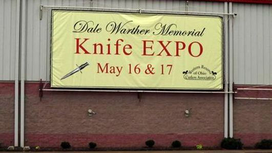 Knife Show banner from 2015