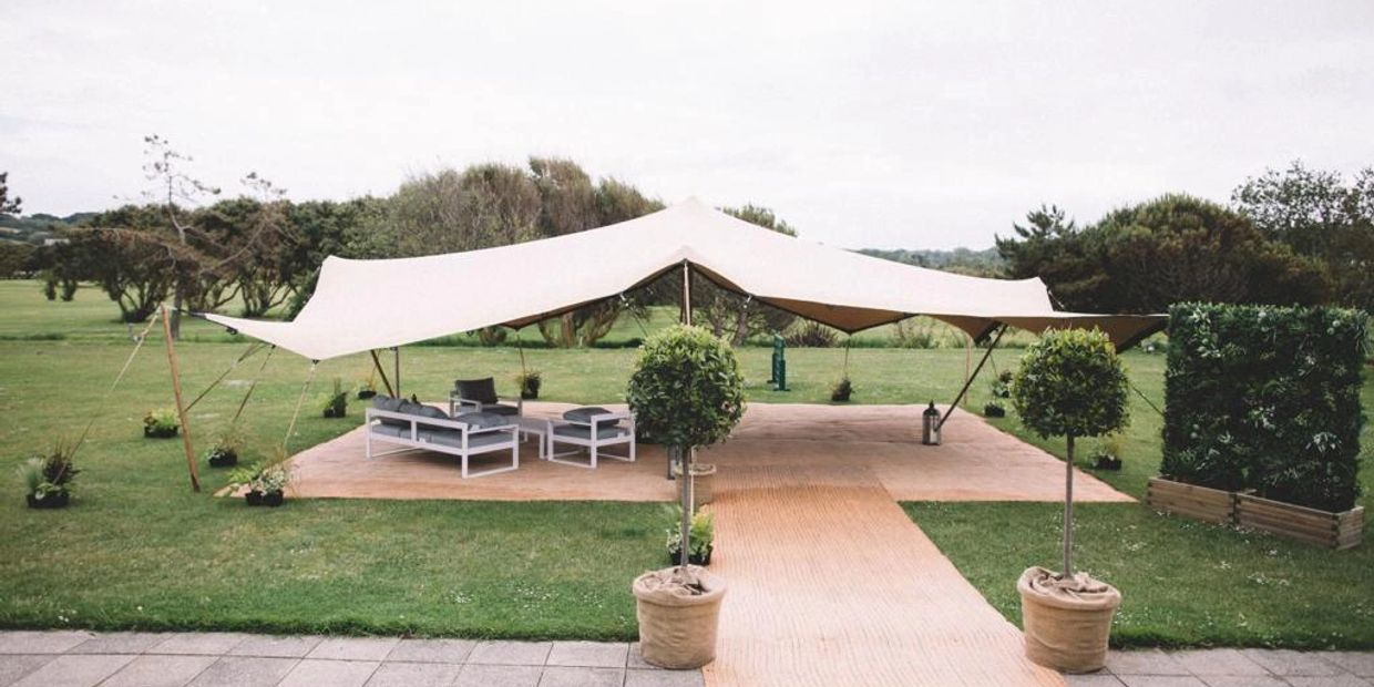 Stretch tent, Events, La Grand Mare, Guernsey, Channel Islands.