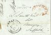 1846 Cover/Letter with 'IPSWICH 1D PAID'  postmark and Bungay double arc CDS.