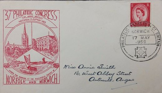Special Cover (envelope) produced for the Congress and Postmark by a Special Souvenir Handstamp.