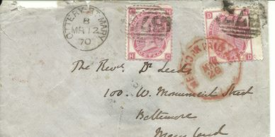 Victorian letter sent to USA