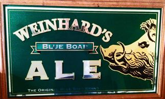 Weinhards 1981 Boars Head Blue Boar ALE Beer Mirrored Sign
