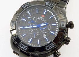 Swiss Precimax Stainless Quartz Divers Watch sapphimax crystal