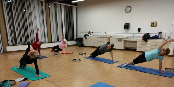 Side Bend in Group Class in Plymouth Canton area
