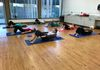Ab Prep in MAT class works abs and shoulders.