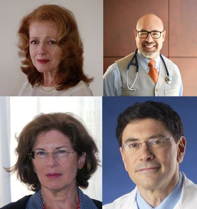 Four photos clustered together. Photo of Dr. Bartlik, Dr. Mindes, Dr. Espinosa, and Dr. Hoffman