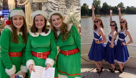 We have a variety of singing groups. Victorian Carolers, singing elves, the DAE Sisters and more!
