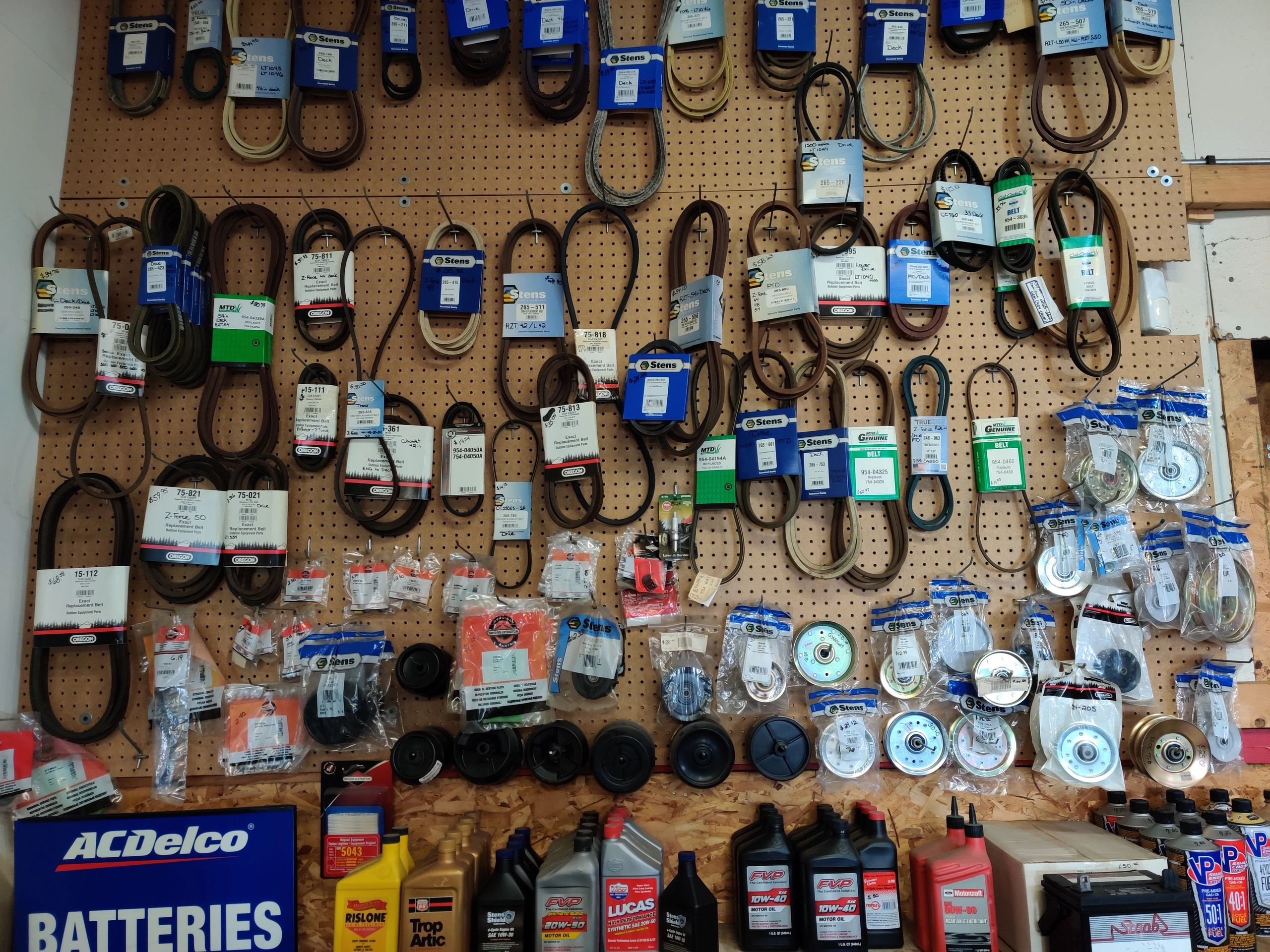 Golf cart and lawn mower parts at Kart Werks in Montgomery, IL