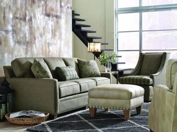 King Hickory Benson Sofa with down and feather cushion makes the most comfortable living room sofa