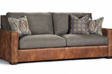 James Leather sofa by Marshfield Furniture. Handmade in Marshfield, Wisconsin