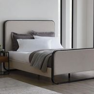 Malouf Godfrey Designer bed Inspired by mid-century modern design from the 1960