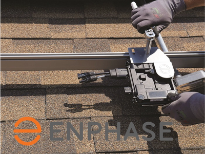 enphase micro inverter on roof