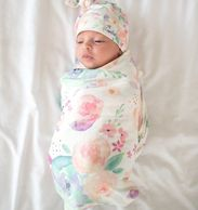 Copper Pearl Swaddles, Burp Cloths, bandana bibs