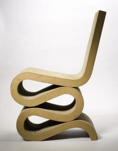 Frank Gehry Wiggle Side Chair. Designed c. 1972.