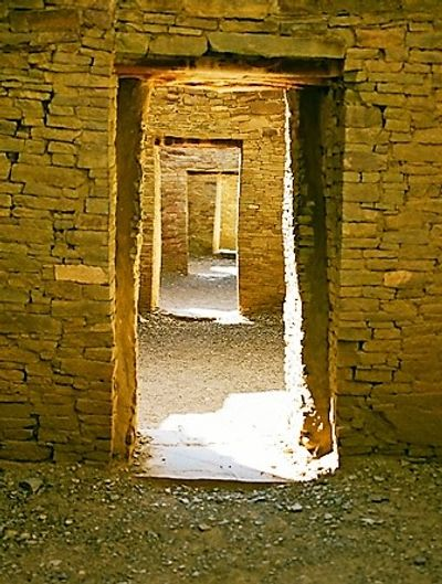 Doorways at Chaco Canyon, New Mexico
