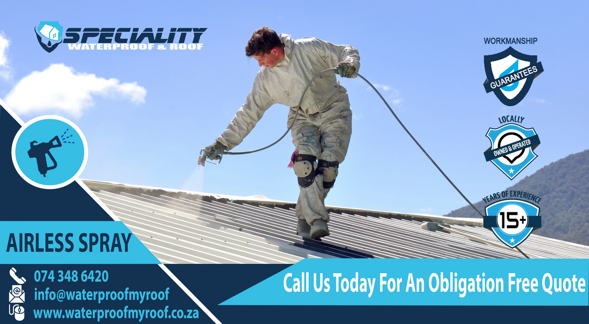Airless Spray Paint your roof in Pretoria or Centurion. We are the number 1 roof painting company.