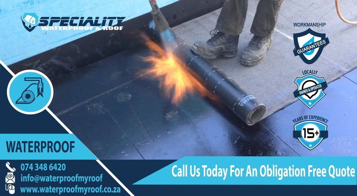 Torch-On Waterproofing for Flat Roofs, Concrete roofs in Pretoria and Centurion Torch on waterproof