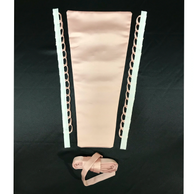The Laceeis Corset Kit consists of a left and right loop set. A modesty panel and a lace up tie.