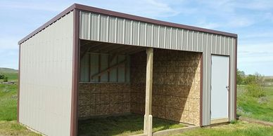 12x24 Horse Shelter w/6' Tack Shed
