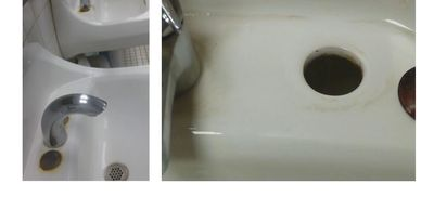 Porcelain Sink—Remove Unsightly running rust stains