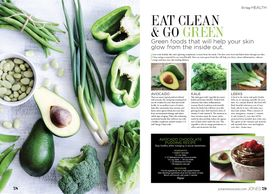 Eat Clean & Go Green  This article shares the benefit of eating green vegetables and a clean diet.