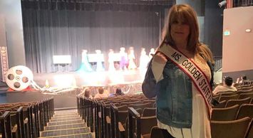 Amber Volunteered at the Miss San Joaquin County Pageant