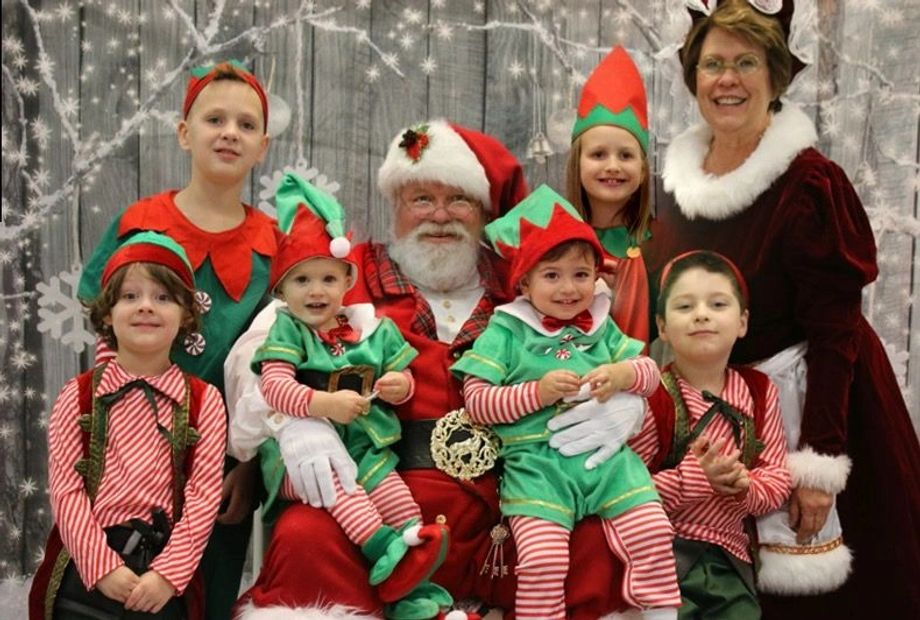 Santa and Mrs Claus and their favorite elves (Grandchildred)
