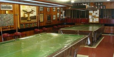 Our Games Room downstairs has Snooker Tables, Shuffleboard, Darts, Cards, Cribbage Boards and more.